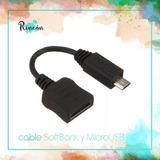 Cable Con Entradas Softbank Y Micro Usb