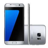 Smartphone Samsung Galaxy S7 Edge 32gb 12mp -prata (vitrine)