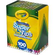 100 Marcadores Crayola Super Tips Washable Lavables