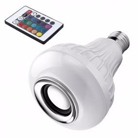 Lampara De Led Rgb Con Parlante Bluetooth Control Remoto