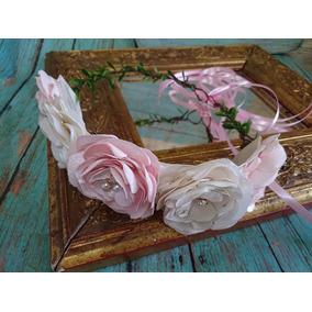 Corona Tiara De Flores Elaboradas A Mano Bautizo Comunion