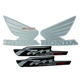 Kit Adesivos - Jogo Faixa Moto Fan 150 - 2012 Esdi Cinza