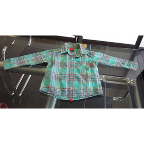Camisa Infantil Mimo & Co Cuadros Verde Talle 1