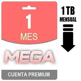 Cuentas Premium Mega 30 Dias 1tb Mensual Envio Inmediato