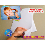 Resma Papel Fotografico Adhesivo Brillante 135gr.x 50 Hojas