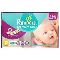 Oferta! Pañales Pampers Premium Care Talle P X 40u Has 7.5kg