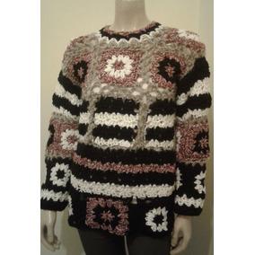 Sweater Pulover Tejido A Mano Mujer Original Lana Exclusivo!