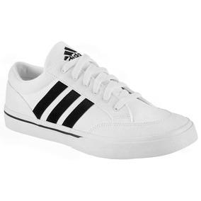 Tenis adidas Canvas Blanco Negro 22-29.5 Originales