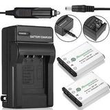 2 X Batería Np-45 Np-45a + Cargador Para Fujifilm Finepix Xp