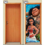 Adesivo Porta Parede Princesa Moana Maui Disney Linda Imagem