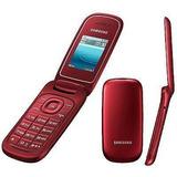 Celular Flip P Idoso Samsung Fm Desbloqueado Vermelho Novo