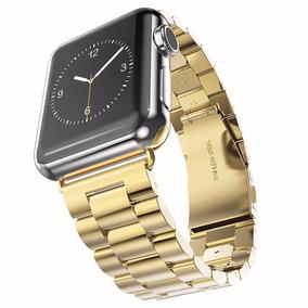 Pulseira Dourada Em Aço Inox Para Relógio Apple Watch 42mm
