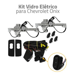 Kit Vidro Elétrico Traseiro Para Chevrolet Onix Lt