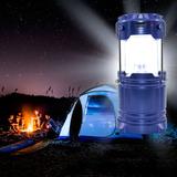 Lampião Luminária Leds Carregador Solar Usb Pilha E Bateria