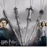 Harry Potter Collar Varitas Magicas Wand Set 4 Envio Gratis