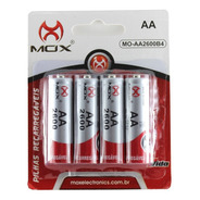 4 Pilhas Recarregável Mox Aa 2600 Pilha Pequena