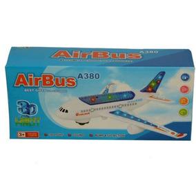 Avion Juguete Airbus A380 Luces Musica Movimiento Circular