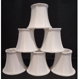 Kit 8 Mini-cúpula Tecido Marfim Encaixar Lampada Vela Lustre