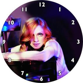 Relógio De Parede Madonna Feito Em Disco De Vinil Artesanato
