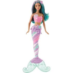 Boneca Barbie Reinos Mágicos - Sereia Do Reino Dos Doces Dhm