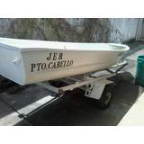 Bote De Aluminio De 6 Puestos Con Trailer Para Pesca O Naveg