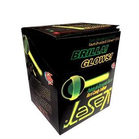 Paleta Laser Palito Luminoso Brilla 24pz Glow Tipo Alien
