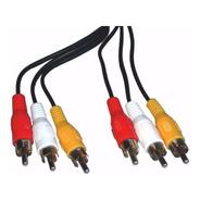 Cable 3 Rca Audio Vídeo Largo 10 Metros Dvd Decodificador