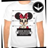Camiseta Minnie Presa Thug Desenho Animado Ou Baby Look