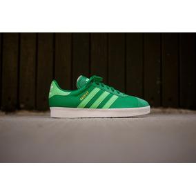 Usado Original Tenis adidas Verde Claro / Esc Mod Gazelle