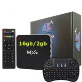 Smart Tv Box Mx9 4k 2gb Ram 16gb 2018 + Teclado Netflix Kodi