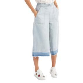 Falda Pantalón Sea New York Diseño Jean Desteñido (azul)