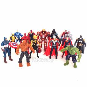 6 Bonecos Marvel / Dc / Vingadores / Liga Da Justiça 16cm