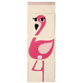 Organizador De Pared 3 Sprouts Flamingo Rosa