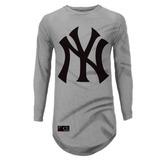 Camisa Oversized Longline Ny New York Basquete Masculina