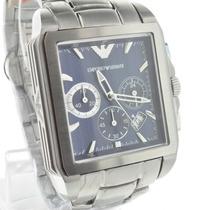 Relógio Emporio Armani Ar0660 Original Azul Quadrado Kaka