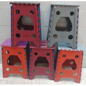 Banco Plegable Plastico, Cinco Piezas, Colores Neutros