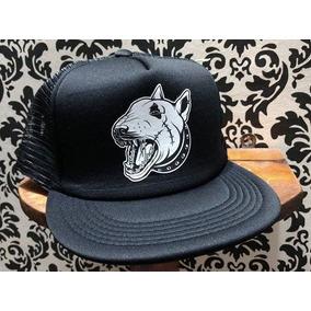 Gorra Visera Plana Trucker Custom Bull Terrier Negra