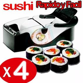 4 Pack Máquina Para Hacer Sushi Rolls Perfectos Facil Rapido