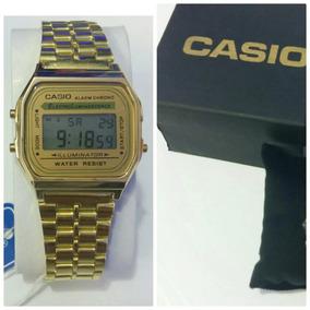 Relógio Aço Casio Dourado + Caixa - Lançamento - Envio Já!