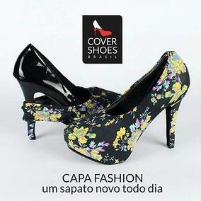 Capa Fashion Para Sapato Cover Shoes - Scarpin - Floral