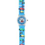 Reloj Para Niños De Agujas Con Autitos Marca Status K01