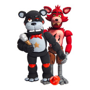 Combo 2 Figuras Five Nights Freddys Pizza Fnaf Foxy + Lefty