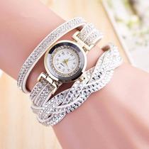 Reloj Brazalete Para Mujer Elegante Con Brillos