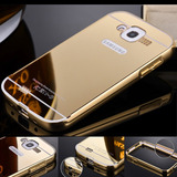 Case Bumper + Tampa Espelhada Celular Galaxy Grand Duos 9082