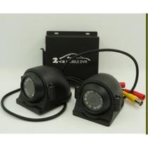 Kit Cftv Dvr 2 Canais Veicular Duas Câmeras Metal Black Frie