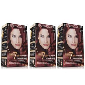 Kit Coloração Permanente Beautycolor Cobre Avermelhado 7.46
