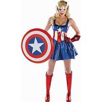 Disfraz Traje De Lujo Descarado Marvel Capitán América Sueñ