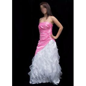 Vestidos De Quince Años Talla ´m´ Rosado - Blanco Americano