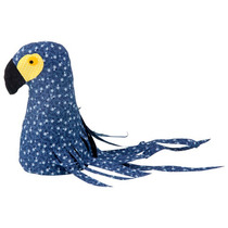 Arara Adorno 2vrd Em Tecido Decorativa Tok Stok Azul