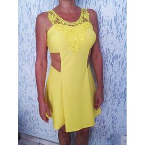 Vestido Curto Transparente Renda Verão Feminino